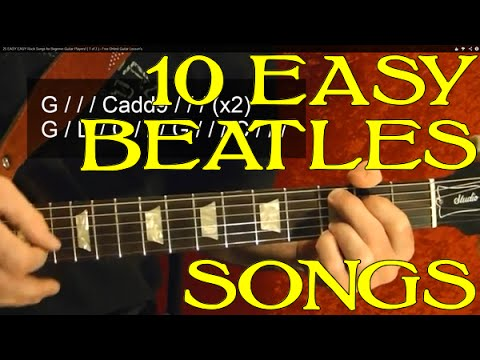 THE BEATLES - 10 Easy Songs - Guitar Lesson - Paul McCartney - John Lennon