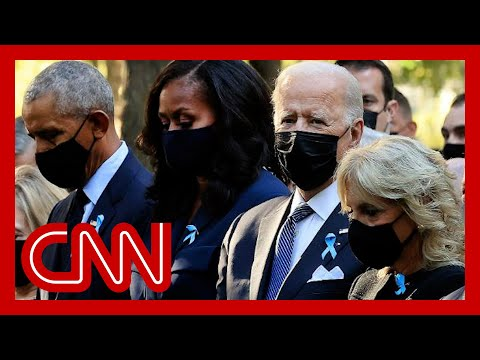 Biden joined by Obama to observe 9/11 moment of silence