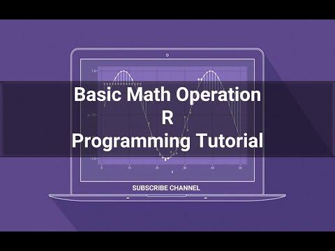 R Programming Tutorial - 01: Operation (mathematics) in R Programming #RPROGRAMMING