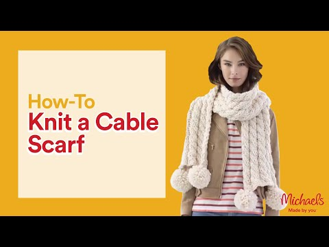 Make an Easy Cable Knit Scarf | Michaels