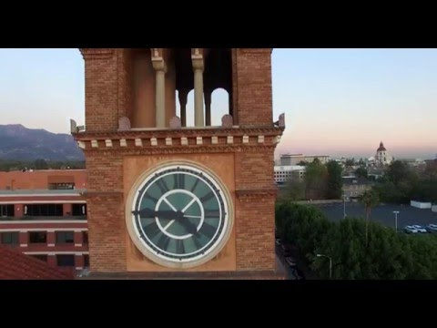 Aerial of Pasadena Churches shot with Drone in 4K