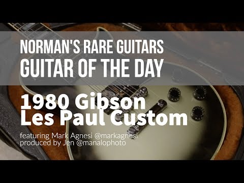 Norman's Rare Guitars - Guitar of the Day: 1980 Gibson Les Paul Custom