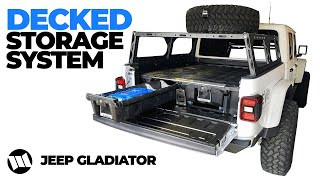 Jeep Gladiator Truck Bed Drawer System by DECKED for WAYALIFE EVO Overland Build