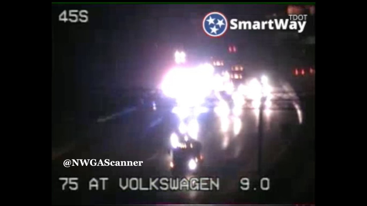 Multiple crashes on I-75 in Chattanooga Tennessee TDOT cameras ...