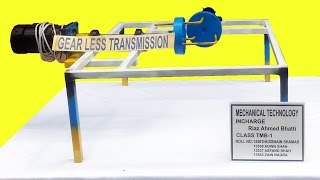 Mechanical Engineering project Gearless Transmission New Invention Project idea 2017