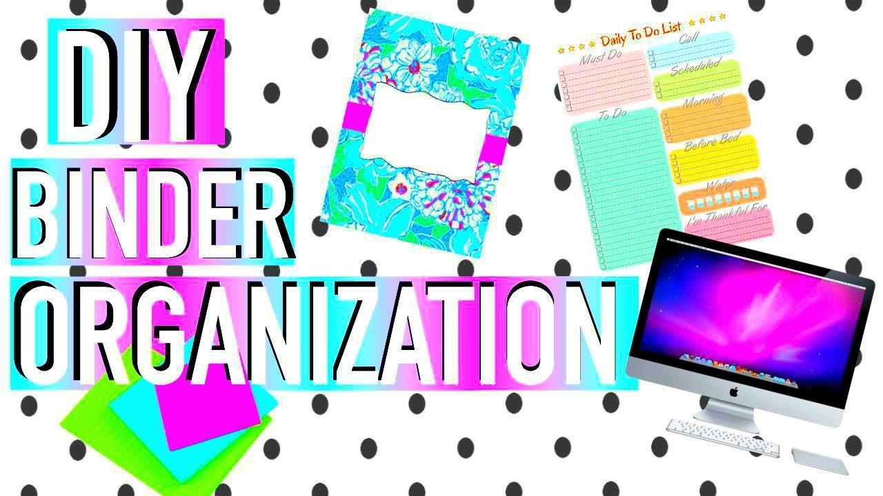 I need help organizing my binders for school?