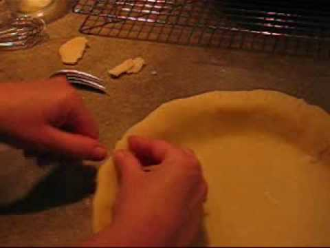 How to Flute A Pie Crust