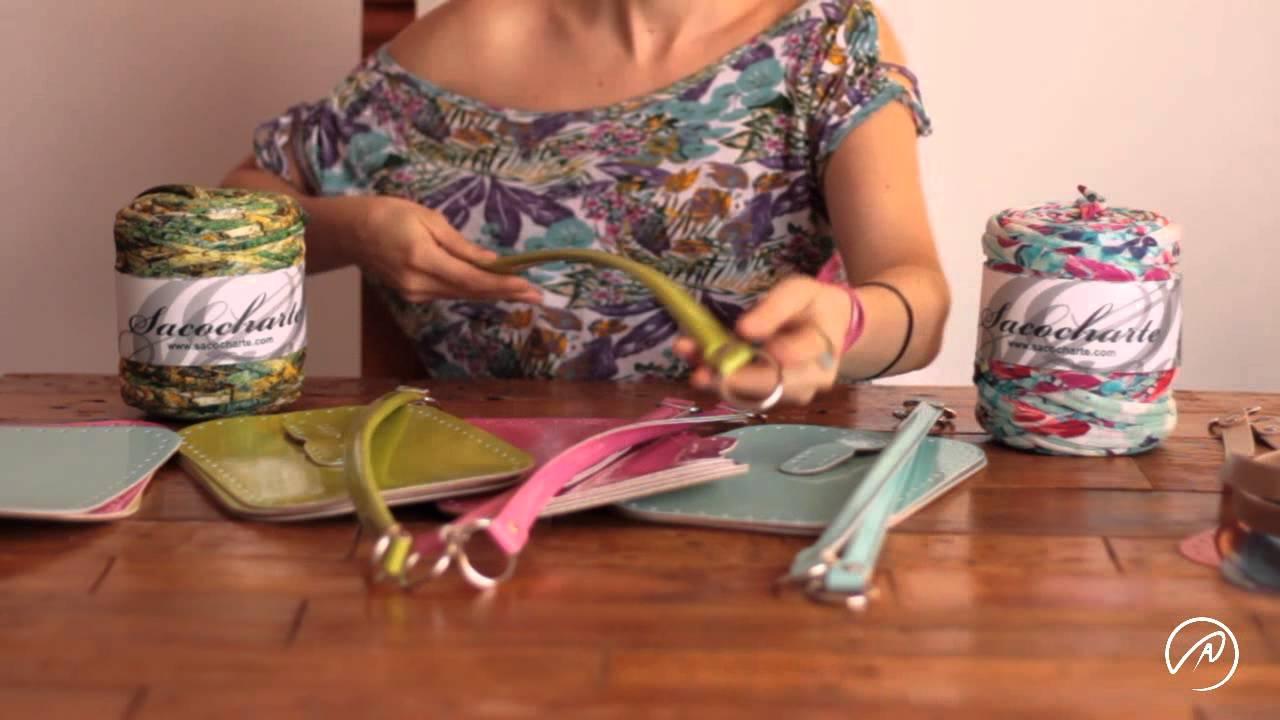 Bases y asas para bolsos con cinta Sacocharte - ganchillo XXL con ...
