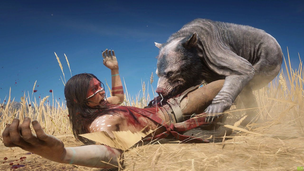 NATIVE AMERICAN Fights the ZoMbiE BEARS in Red Dead Redemption 2 PC ✪ Vol 3