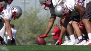 lobo football first day of helmets spring 2017