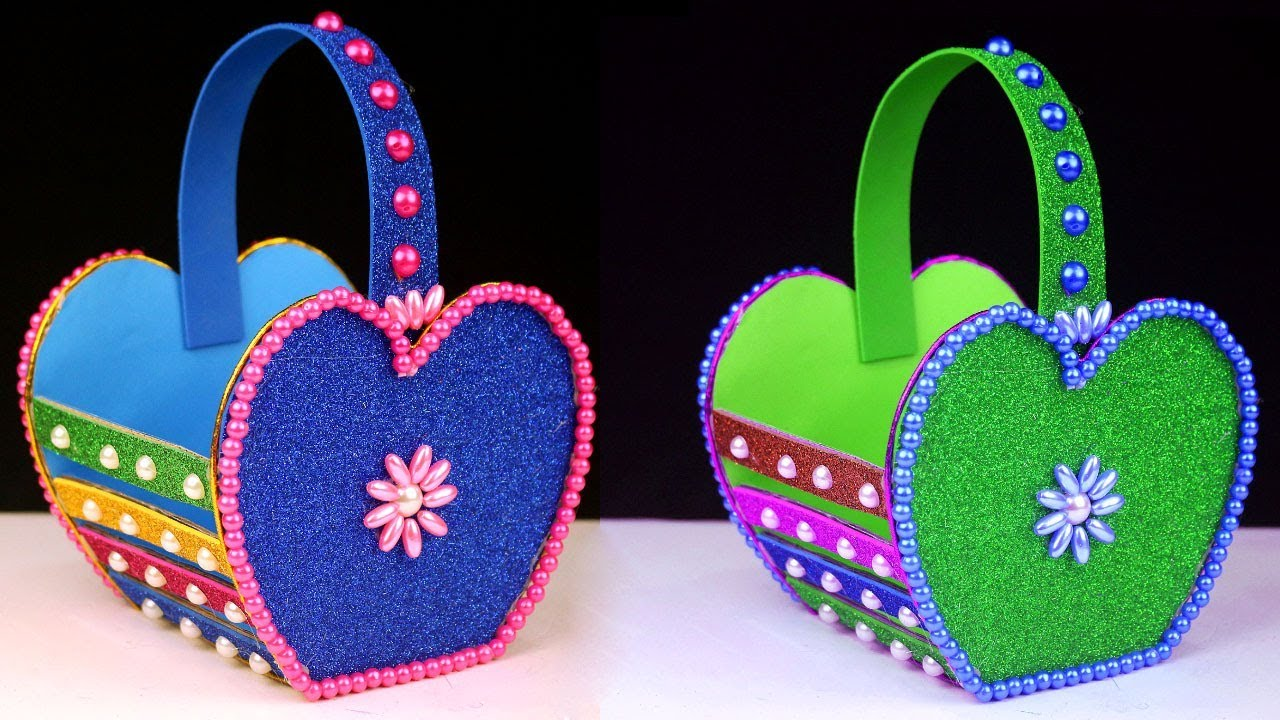 How To Make Easy Cardboard Basket Diy Easter Basket Craft Cute