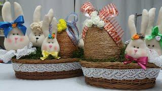 Para enfeitar a mesa de Páscoa – Coelhinhos  fofos