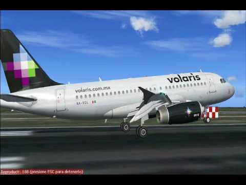 FS2004: Volaris Puebla-Cancun - YouTube