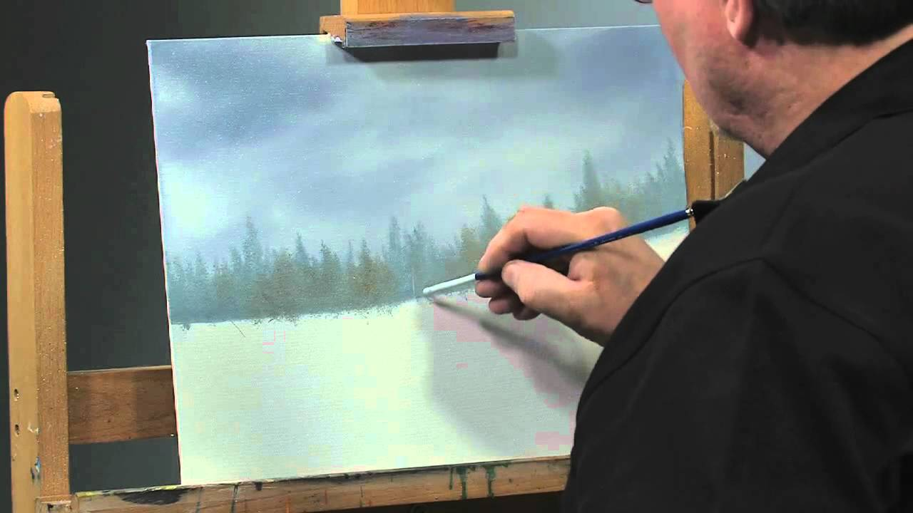 PaintAlong How to Paint a Winter Scene in Oils Part 2