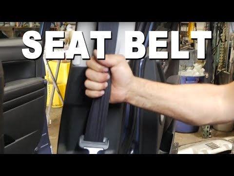 How to remove and replace a seatbelt- 2016 Subaru Forester