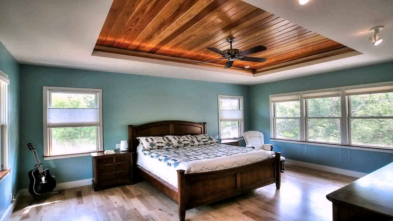 Bedroom Paint Ideas With Tray Ceiling Daddygif Com See Description Youtube