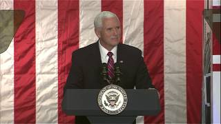 Vice President Mike Pence Discusses Lunar Exploration at NASA's Ames Research Center