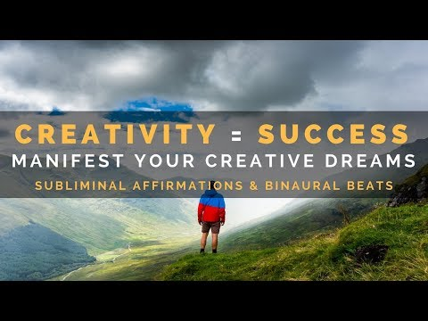 TRANSFORM YOUR CREATIVITY INTO SUCCESS SUBLIMINAL | Be Successful as a Creative Person