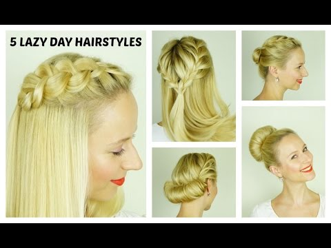 5 Easy Lazy Day Hairstyles Quick And Easy Hairstyles For Short