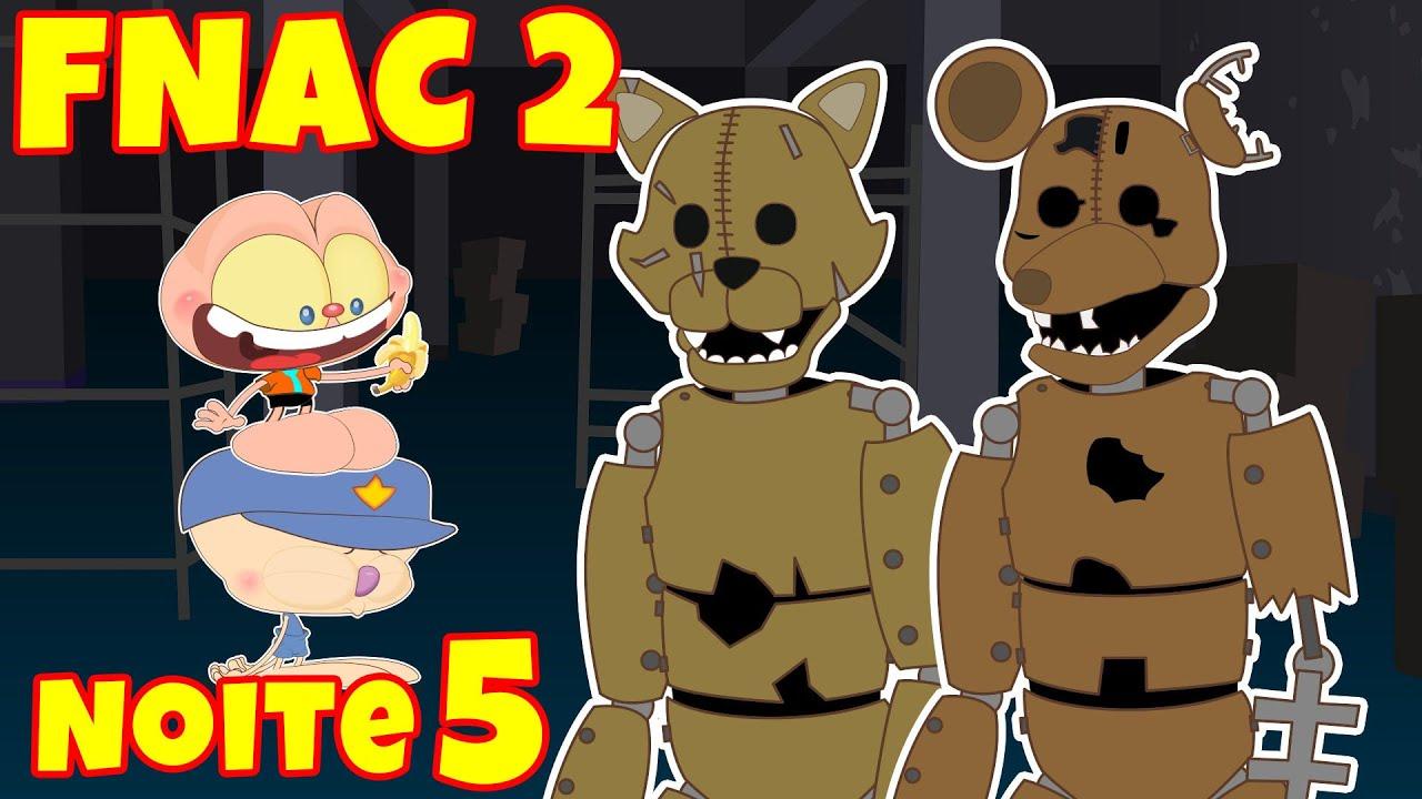 Mongo e Drongo: Noite 5 de Five Nights at Candy's 2  - FNAC 2 em desenho animado com Rat e Cat