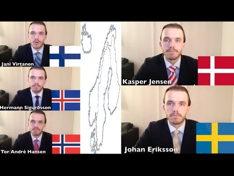 Impression of Nordic languages - by one person