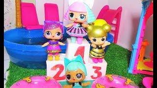 УРОК ФИЗКУЛЬТУРЫ. КУКЛЫ ЛОЛ ШКОЛА МУЛЬТИКИ. Куклы видео для детей