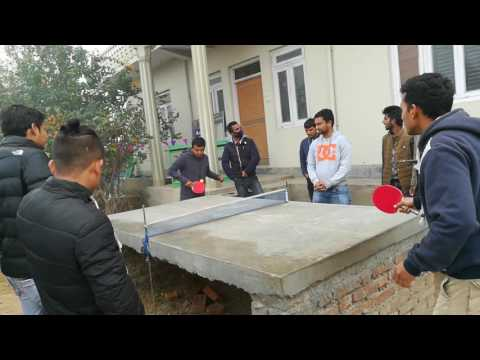 TT game live footage at Ambikeshwari campus Ghorahi Dang