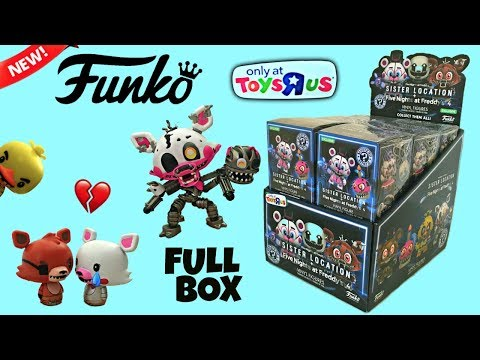 FNAF Funko Mystery Minis, Sister Location & Nightmare, Exclusive Toys R Us, Full Box, Stop-Motion
