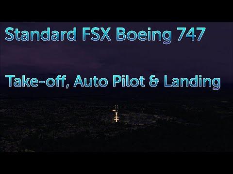 Flight Sim X - Boeing 747 Std Guide for Take Off, Auto Pilot & Landing