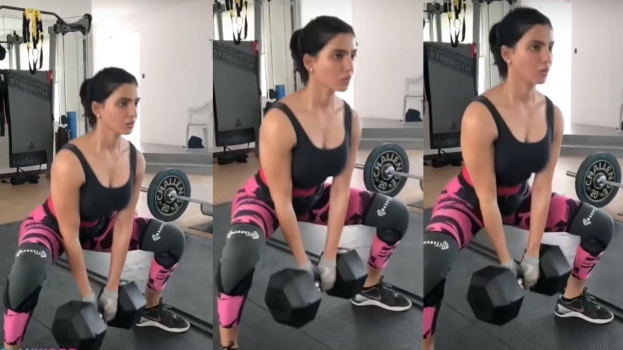 Samantha Akkineni hard gym workout|Sam Latest Workouts|2 states - YouTube