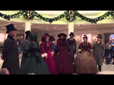The Voices of Liberty carolers sing Christmas favorites at Epcot