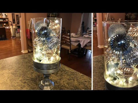Painted Christmas Galvanized Glass Container Diy With Christmas Bulbs 2018
