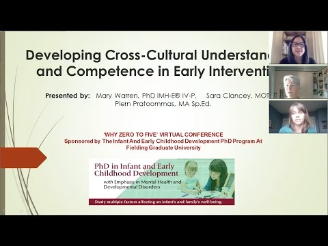 Why Zero to Five: Developing Cross Cultural Understanding and Competence in Early Intervention
