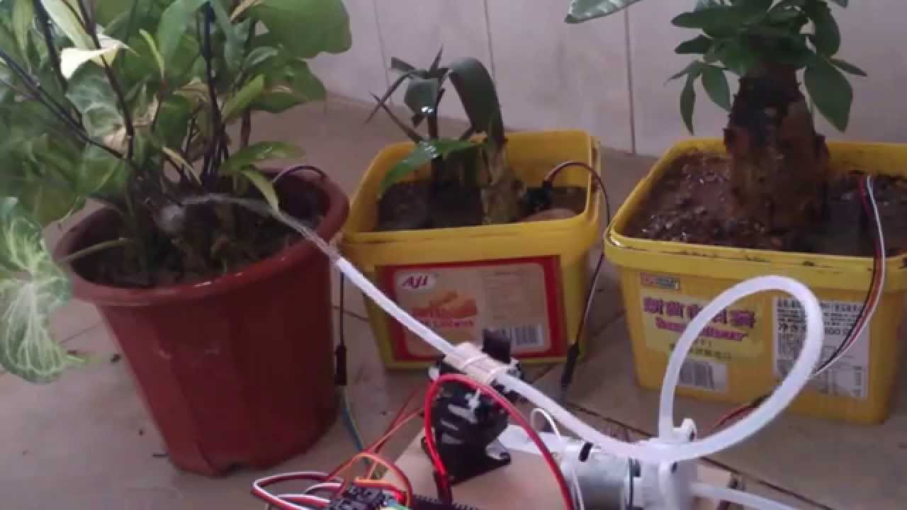 Automatic watering system for potted plants - Arduino Automatic Watering System For Plants Sprinkler