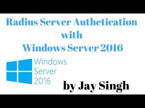 Radius Server for WiFi Authentication with Windows Server 2016