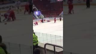 Массовая драка в матче Цска-Йокерит 2 (21.02.17)