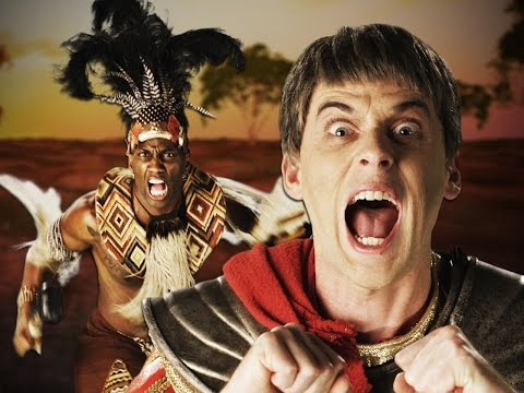 Shaka Zulu vs Julius Caesar.  Epic Rap...