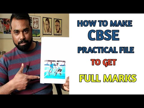 How to make practical file | class 12 | Physical Education | Live demonstration | CBSE