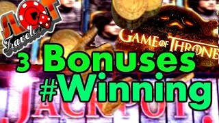 **BIG WINS** MAX BET - Game of Thrones Slot & PROGRESSIVE JACKPOT - SlotTraveler(Winning on Game of Thrones ** Aria, Las Vegas - SlotTraveler A series of 3 Bonuses * The Wall - Big Win * Battle of Blackwater Bay - Nice Win * Dragon ..., 2016-07-07T00:19:13.000Z)