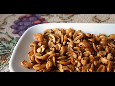Super Easy Roasted Cashews (olive oil & thyme)… ready to serve in 15 minutes