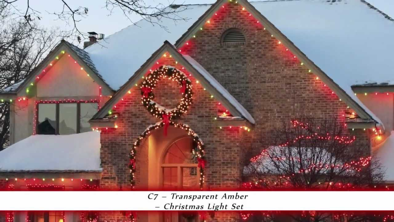 transparent amber c7 christmas light bulbs