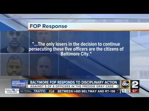 Baltimore FOP responds to action against officers
