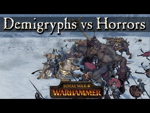 Demigryph Knights Vs Skeleton Spears And Crypt Horrors - Total War Warhammer Mechanics