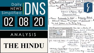 THE HINDU Analysis, 2 August 2020 (Daily News Analysis for UPSC) – DNS