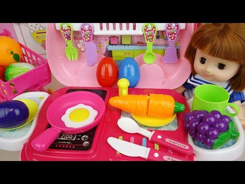 Baby Doli and Kitchen car surprise eggs food toys baby doll play
