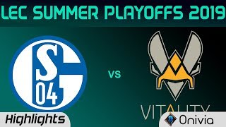 S04 vs VIT Highlights Game 2 LEC Summer 2019 Playoffs Schalke 04 vs Team Vitality LEC Highlights By
