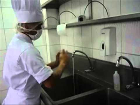 El correcto lavado de manos paso x paso youtube for Lavado de manos en la cocina