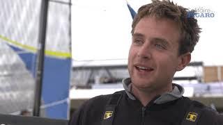 Tom Laperche à l'arrivée de l'étape 2 - La Solitaire du Figaro 2021