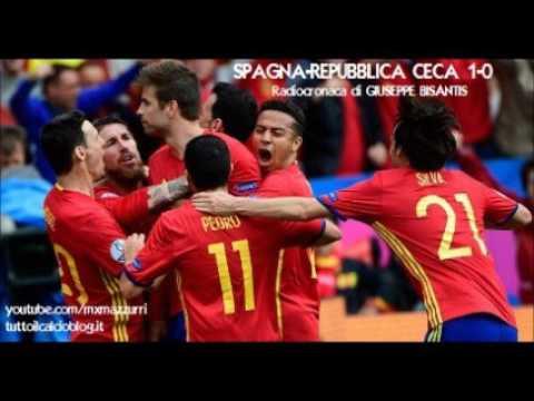 SPAGNA-REPUBBLICA CECA 1-0 - Radiocronaca di Giuseppe Bisantis (13/6/2016) EURO 2016 su Rai Radio 1