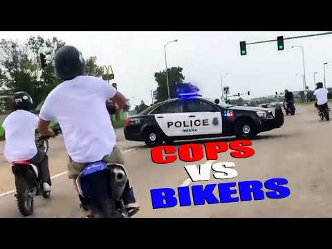 Cops vs Bikers 2018   Chases, Pullovers & Angry People
